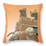 Tiger Town Throw Pillow