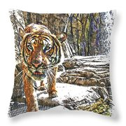 Tiger View Throw Pillow