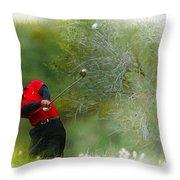 Tiger Woods - The Chevron World Challenge Throw Pillow