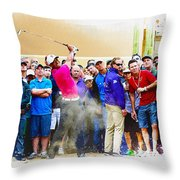 Tiger Woods - The Waste Management Phoenix Open At Tpc Scottsdal Throw Pillow