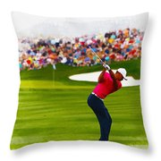 Tiger Woods - The Waste Management Phoenix Open  Throw Pillow