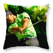 Tiger Woods - Wgc- Cadillac Championship Throw Pillow