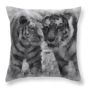 Tigers Photo Art 01 Throw Pillow
