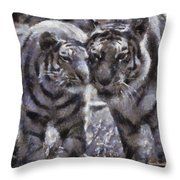 Tigers Photo Art 02 Throw Pillow