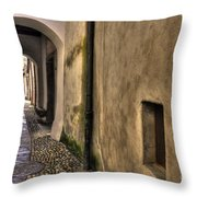 Tight Alley With Arch Throw Pillow