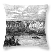 Tightrope Walker, 1860 Throw Pillow