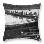 Tigris River Bridge Throw Pillow