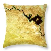 Tigris River Iraq Throw Pillow by Phill Petrovic