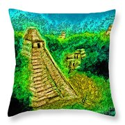 Tikal By Jrr Throw Pillow