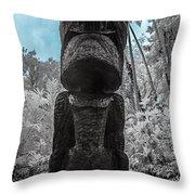 Tiki Man In Infrared Throw Pillow