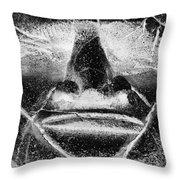 Tiki Mask Negative Throw Pillow