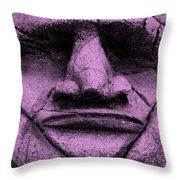 Tiki Mask Pink Throw Pillow