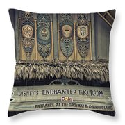 Tiki Room Adventureland Disneyland Throw Pillow