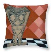 Tiki Statue Art Throw Pillow