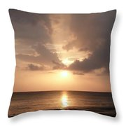 Tiki Sunset 1 Throw Pillow