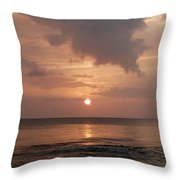 Tiki Sunset 2 Throw Pillow