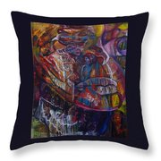 Tikor Woman Throw Pillow by Peggy  Blood