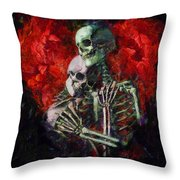 Til Death Throw Pillow by Christopher Lane