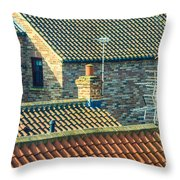 Tile Roofs - Thirsk England Throw Pillow
