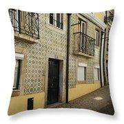 Tile Walls Of Lisbon Throw Pillow