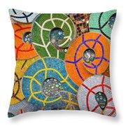 Tiled Swirls Throw Pillow