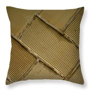 Tiled Tunnel Wall Throw Pillow
