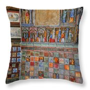 Tilework At The Castle Throw Pillow