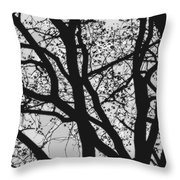Tilia Night Silhouette Throw Pillow