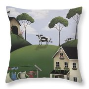 Till The Cows Come Home Throw Pillow by Catherine Holman