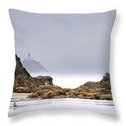 Tillamook Head Lighthouse Throw Pillow