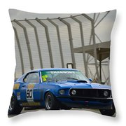 Tilley Racing Mustang Throw Pillow