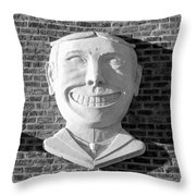 Tillie Of Coney Island In Black And White Throw Pillow