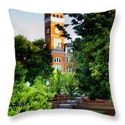 Tillman Hall Early Morning Throw Pillow