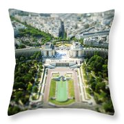 Tilted Reality Throw Pillow