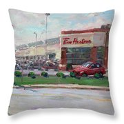 Tim Hortons By Niagara Falls Blvd Where I Have My Coffee Throw Pillow