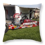 Tim Irwin Dragster Throw Pillow