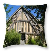 Timber A Frame Cottage Throw Pillow