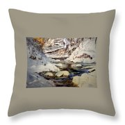Timber Creek Winter Throw Pillow