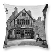 Timber Framed Houses In France Throw Pillow