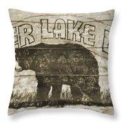 Timber Lake Lodge Throw Pillow