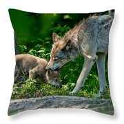 Timber Wolf Pictures 332 Throw Pillow