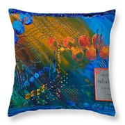 Time Abstract Throw Pillow