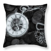 Time And Money Throw Pillow by Bob Orsillo