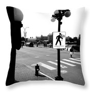 Time And Routes  Throw Pillow