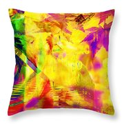 Time As An Abstract Throw Pillow