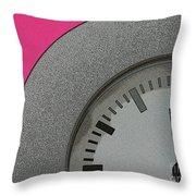 Time Clicks On Throw Pillow