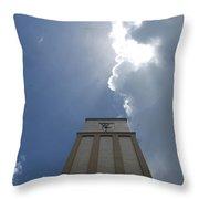 Time Clouds Throw Pillow
