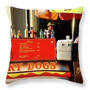 Time For A Lucky Dog Throw Pillow