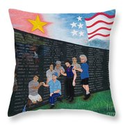 Time For Healing Hand Embroidery Throw Pillow by To-Tam Gerwe