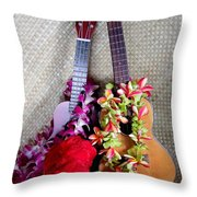 Time For Hula Throw Pillow